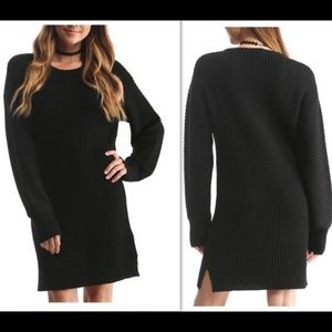 Publish Ribbed Long Sleeves Sweater Dress in Gray